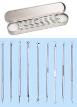 Sada 9 nástrojů na čištění pleti